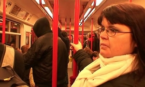 Tramp picks not far from busty mature lady in metro
